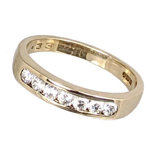 99302 £452 Second Hand 9ct Yellow Gold Dia Half Eternity Ring from Thorntons Jewellers Jewellery Collection in Kettering Northampton