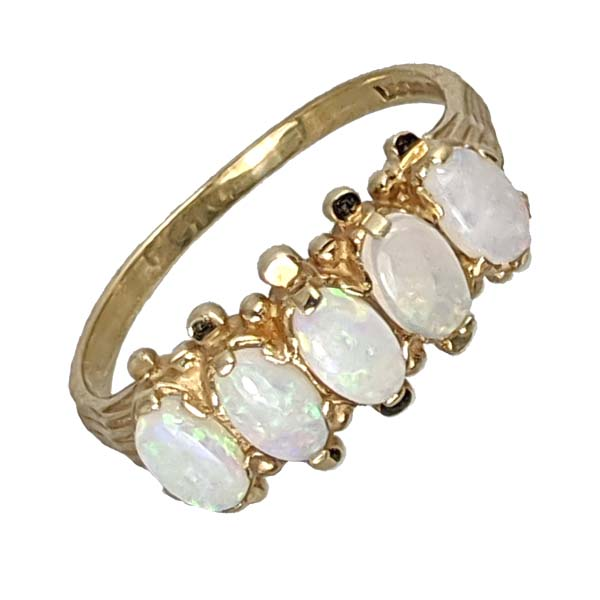 99386 £95 Second Hand 9ct 5 Stone Opal Ring from Thorntons Jewellers Jewellery Collection in Kettering Northampton
