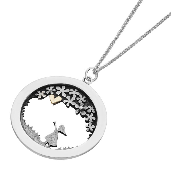 Meadow Collection pendant in Sally Thorntons jewellery blog on Linda Macdonald from AA Thornton Kettering Northampton
