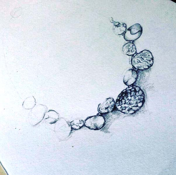 Sally Thorntons jewellery blog on Chris Lewis from AA Thornton Jeweller in Kettering Northampton One of his design sketches
