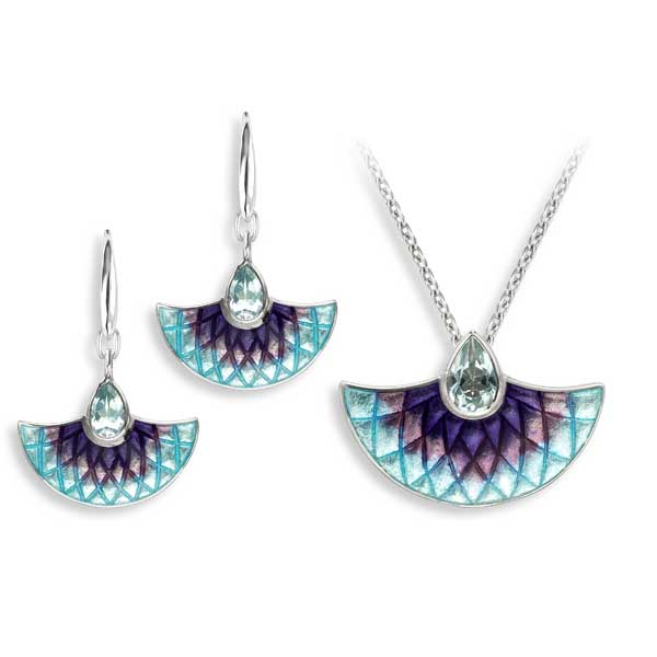 Purple & blue topaz pendant £143 & earrings £127 from Sally Thorntons jewellery Blog at AA Thornton Jeweller Kettering Northampton