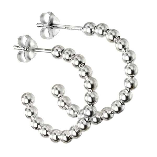 Silver bead hoop earrings £23 from Sally Thorntons jewellery Blog at AA Thornton Jeweller Kettering Northampton