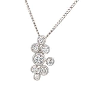 18ct White gold bubble pendant on a chain £1,635 Sally Thorntons Jewellery blog on Christmas gift ideas from Thornton Jewellers Kettering Northampton