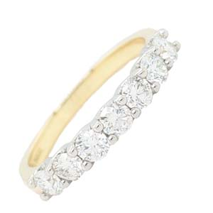 18ct gold 7 stone diamond ring£2,500 Sally Thorntons Jewellery blog on Christmas gift ideas from Thornton Jewellers Kettering Northampton