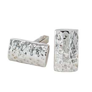 John Garland Taylor silver hammered cufflinks £104 Sally Thorntons Jewellery blog on Christmas gift ideas from Thornton Jewellers Kettering Northampton