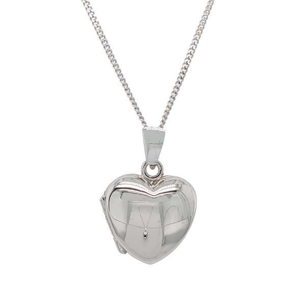 9ct white gold small heart locket on a chain £355 from Sally Thorntons Jewellery blog at AA Thornton Jeweller Kettering Northampton
