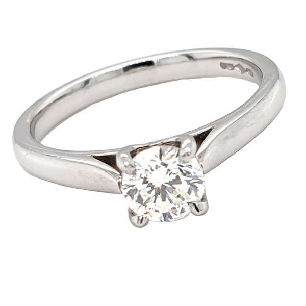 Preloved diamond set into new platinum 4 claw ring £2,995 from Sally Thorntons Jewellery blog at AA Thornton Jeweller Kettering Northampton