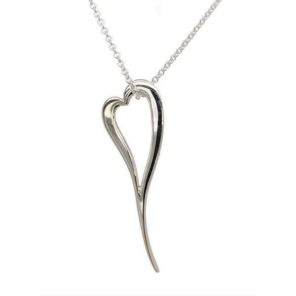 Silver elongated heart pendant on chain £63 from Sally Thorntons Jewellery blog at AA Thornton Jeweller Kettering Northampton