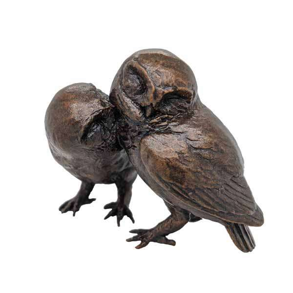 Bronze owls £140 from Sally Thornton jewellers blog on bird jewellery Thorntons jeweller Kettering Northampton