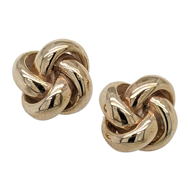 9ct pre loved heavy knot stud earrings £275 ref 100424 from Sally Thornton Jewellery Blog on Knots from Thorntons Jewellers Kettering Northampton