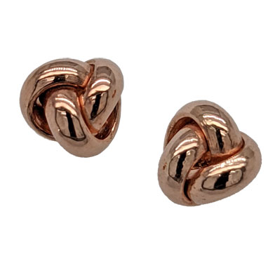 9ct rose gold knot stud earrings £45  from Sally Thornton Jewellery Blog on Knots from Thorntons Jewellers Kettering Northampton