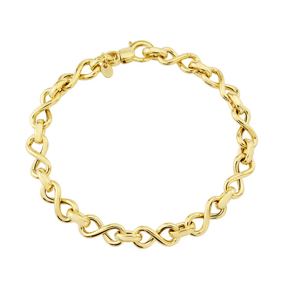 9ct yellow gold infinity knot bracelet £495 from Sally Thornton Jewellery Blog on Knots from Thorntons Jewellers Kettering Northampton