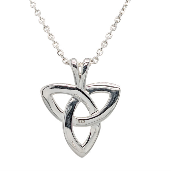 Silver celtic trinity knot pendant on chain £51 from Sally Thornton Jewellery Blog on Knots from Thorntons Jewellers