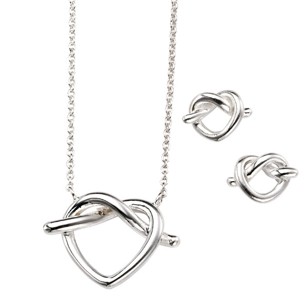 Silver knotted heart pendant £29 & earrings £15 from Sally Thornton Jewellery Blog on Knots from Thorntons Jewellers Kettering Northampton