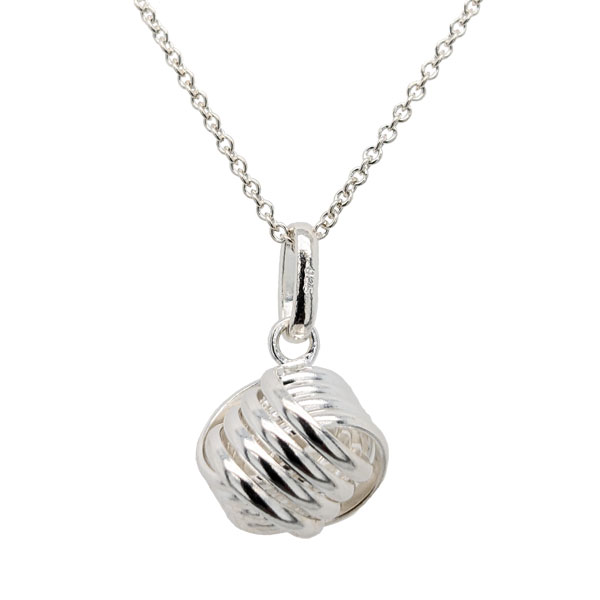 Silver sailors monkey's fist knot pendant on chain £25 from Sally Thornton Jewellery Blog on Knots from Thorntons Jewellers Kettering Northampton