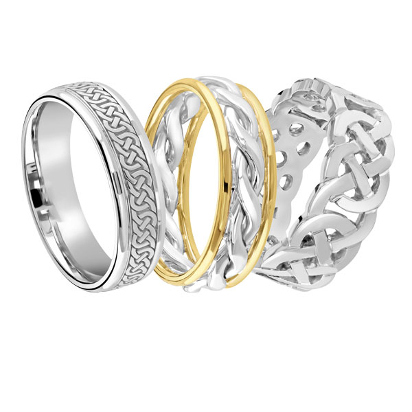 Gents Celtic wedding bands from Sally Thornton jewellery blog on Wedding Rings at Thorntons Jewellers Kettering Northampton