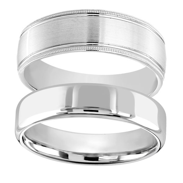 Gents plain and bead edge wedding bands from Sally Thornton jewellery blog on Wedding Rings at Thorntons Jewellers Kettering Northampton