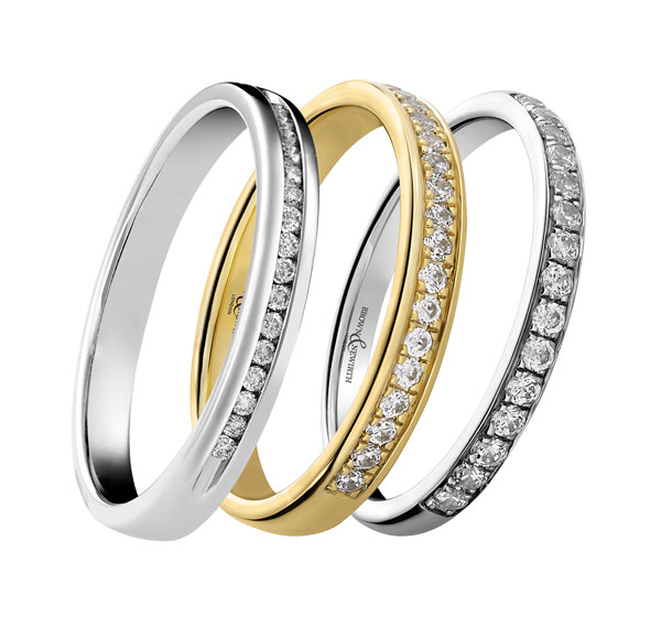 Ladies diamond set wedding bands from Sally Thornton jewellery blog on Wedding Rings at Thorntons Jewellers Kettering Northampton