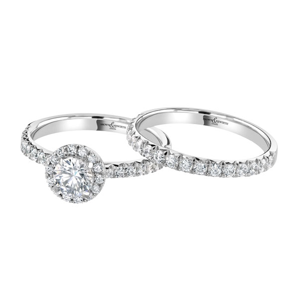 Ladies engagement and matching wedding ring  from Sally Thornton jewellery blog on Wedding Rings at Thorntons Jewellers Kettering Northampton