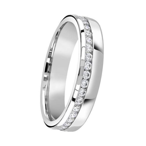 Ladies offset diamond wedding ring from Sally Thornton jewellery blog on Wedding Rings at Thorntons Jewellers Kettering Northampton