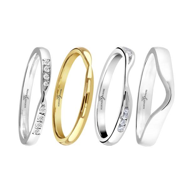 Ladies shaped wedding rings  from Sally Thornton jewellery blog on Wedding Rings at Thorntons Jewellers Kettering Northampton
