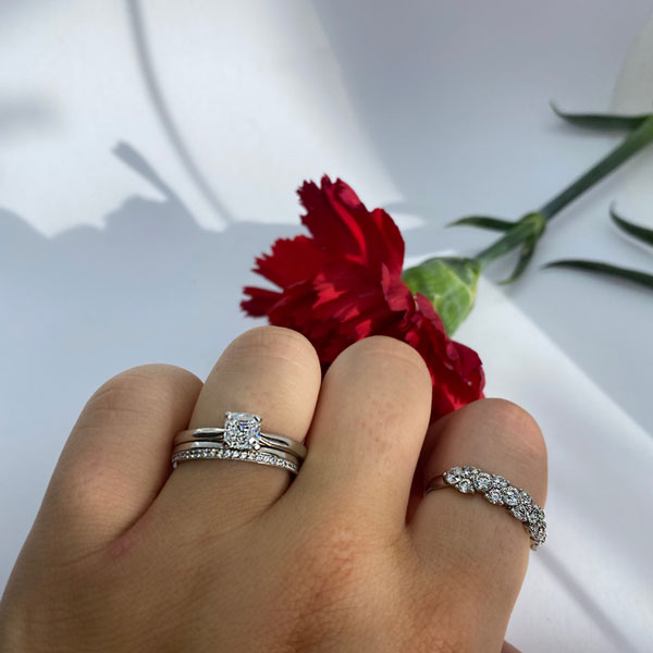 Solitaire wedding and eternity rings  from Sally Thornton jewellery blog on Wedding Rings at Thorntons Jewellers Kettering Northampton