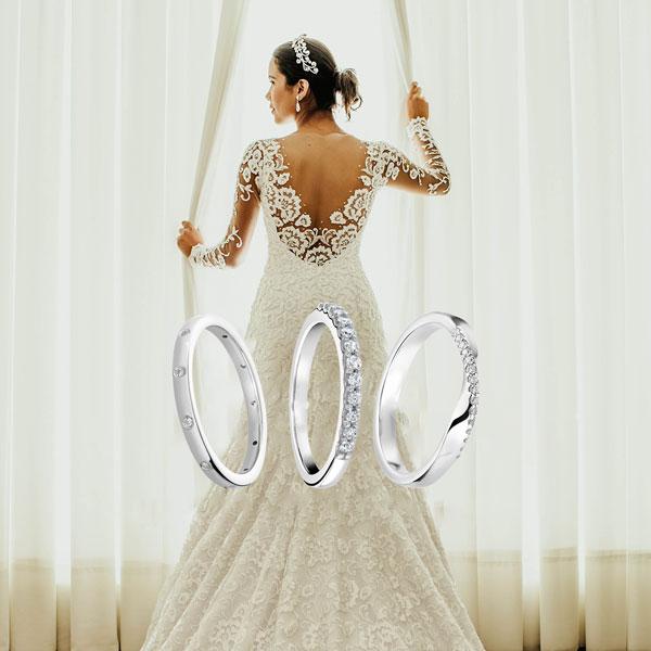 Diamond set wedding bands from Sally Thornton jewellery blog on Wedding Rings at Thorntons Jewellers Kettering Northampton