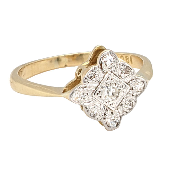 102018 Second Hand 18ct & Platinum Diamond Cluster Ring £395 on Jewellery blog by Sally Thornton for Thorntons Jewellers Kettering Northampton