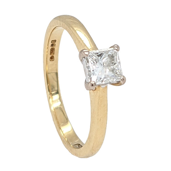93916 Pre loved 18ct-princess cut diamond ring £1,150 from Jewellery blog by Sally Thornton for Thorntons Jewellers Kettering Northampton