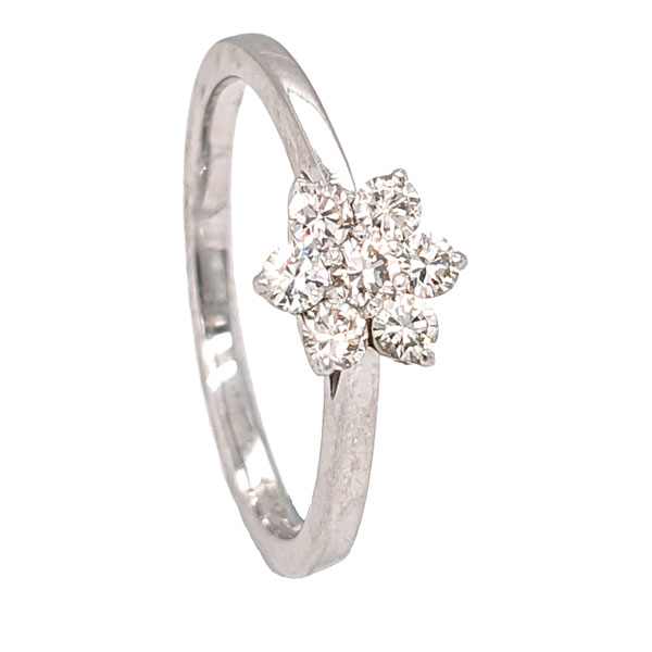 99665 Pre loved platinum diamond cluster ring £895 Jewellery blog by Sally Thornton for Thorntons Jewellers Kettering Northampton