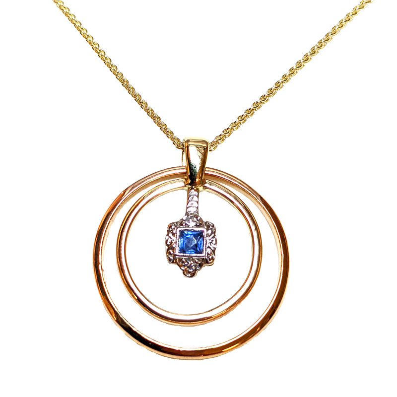 Pendant remodelled from wedding and engagement rings Sally Thorntons Jewellery blog on Design from Thornton Jeweller Kettering Northampton